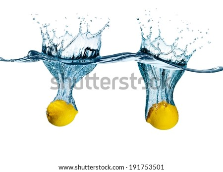 Two lemons splash