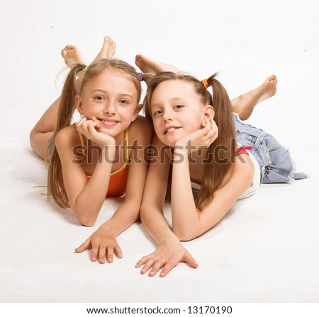 Two little blond Girls