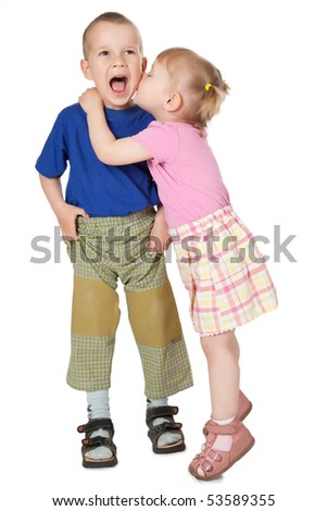 two loving child - stock photo