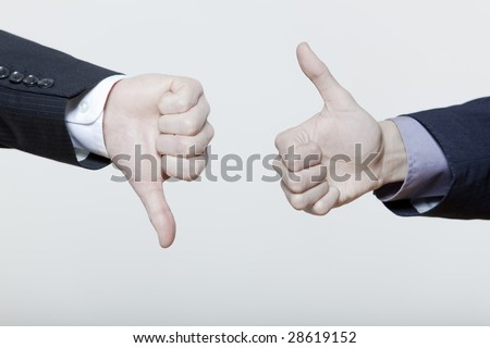 two male expressive young men on isolated background - stock photo
