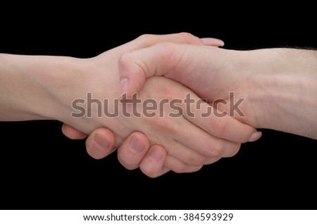 Two male hands about to shake hands