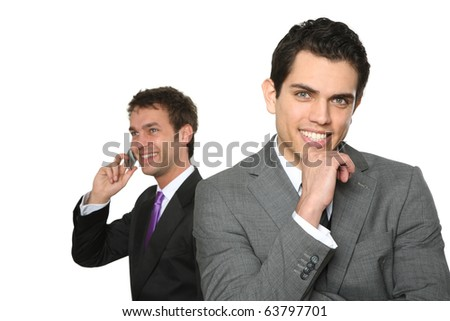 two man business team - stock photo