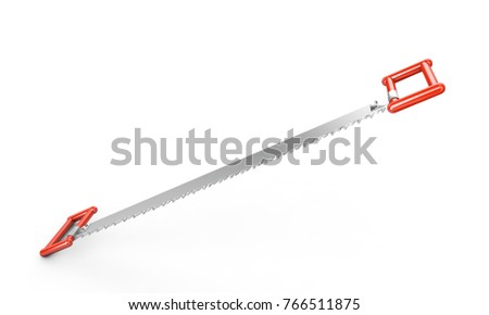 Two handed saw stock images royalty free images vectors for Garden design 3d tools