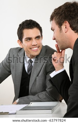 two man talking business - stock photo