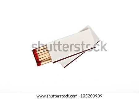two matches boxes isolated on white background - stock photo