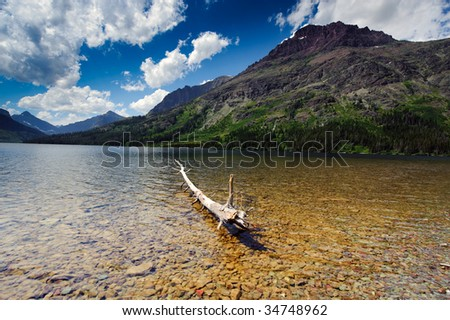 Two Medicine Lake - stock photo