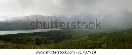 Two Medicine Lake, Glacier National Park, Montana - stock photo