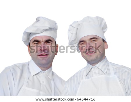Two men in chef hats