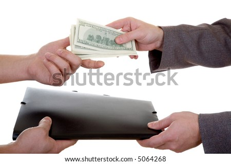 Two men making a deal isolated at the white background