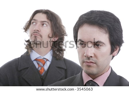 two men thinking about business - stock photo