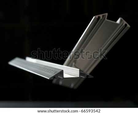 Two metal rulers - stock photo