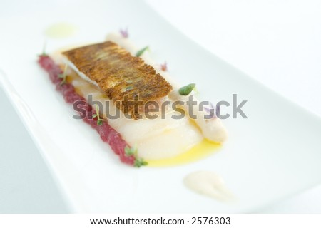 two Michelin star food - stock photo