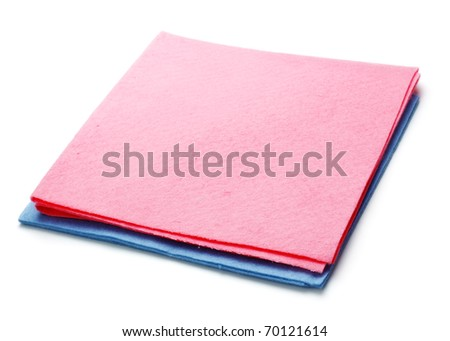 two microfiber dusters - stock photo