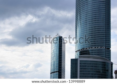 Two modern skyscrapers - stock photo