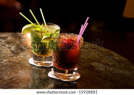 Two mojito on the table