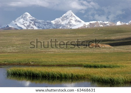 Two mountains - stock photo