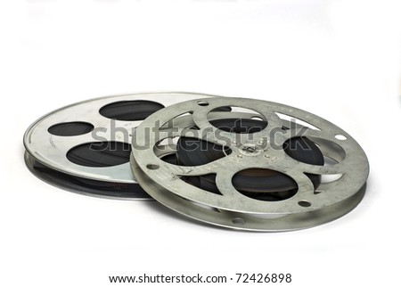 Two movie film reels isolated on stock photo royalty free 72426898 two movie film reels isolated on white ground thecheapjerseys Choice Image