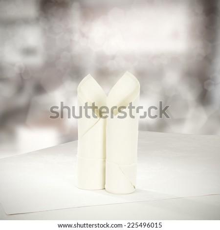 two napkin  - stock photo