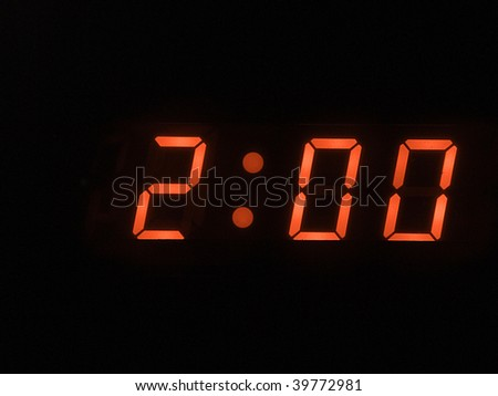 two o clock am - stock photo