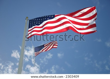 Two of the United States of America flag