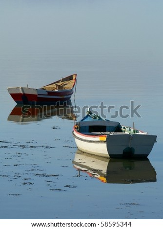 Two old boats - stock photo