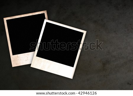 Two old empty frames - stock photo