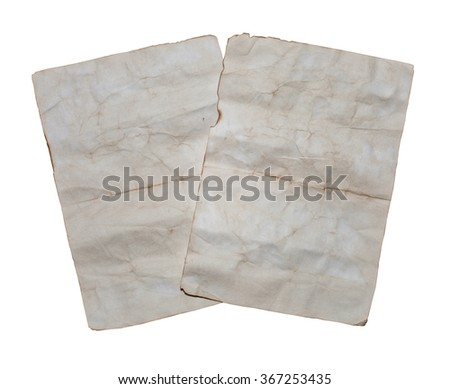 Two old paper sheets - stock photo