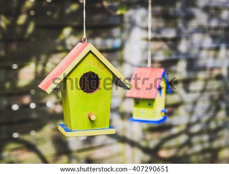 diy colorful bird house birdhouse stock images royalty free images amp vectors 4231