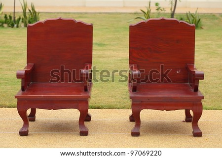 Two outdoor chair.