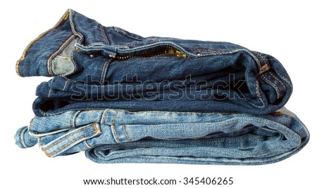 two pairs of jeans - stock photo