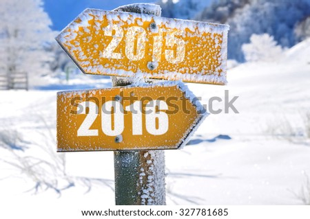 two panels yellow mountain overlooking the opposite direction 2015 - 2016 - stock photo