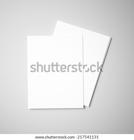 Two paper pieces on the gray background - stock photo