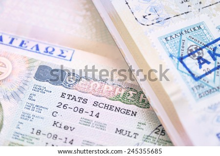 Two Passport with Greek European Union Shengen Visa