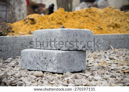 two pavers - stock photo
