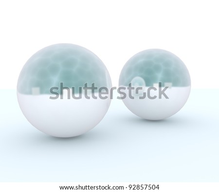 Two Pearl isolate on white background.