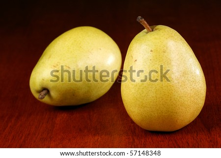 two pears - stock photo