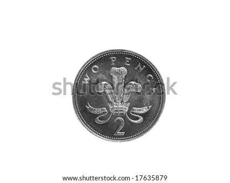 two pence - stock photo