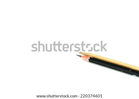 Two pencil on white background