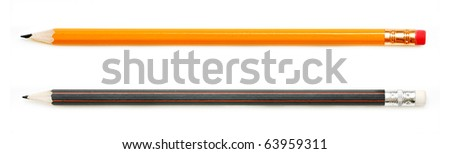 Two pencils - stock photo