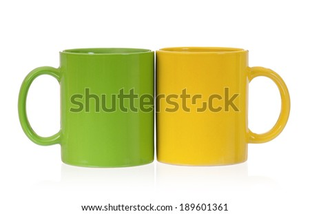 Two perfect cups, isolated on white background - stock photo