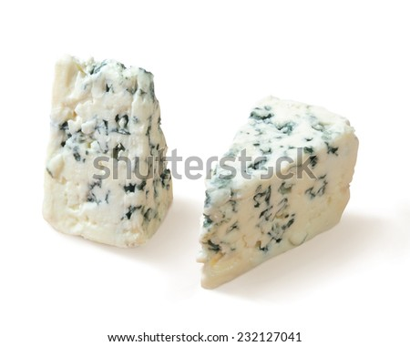 two pieces of mould cheese