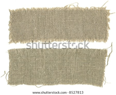 Two pieces sackcloth isolated on a white background - stock photo
