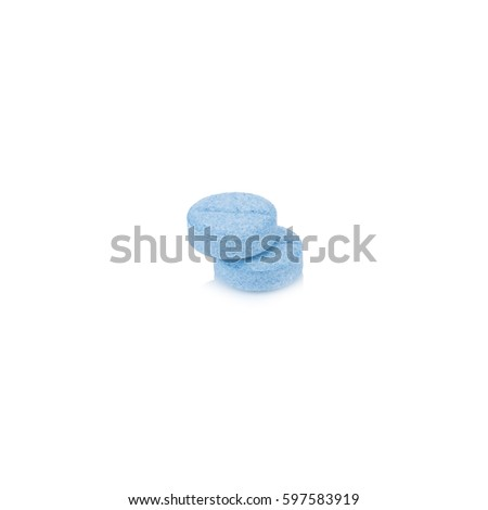 Two pill circle blue isolated on white background