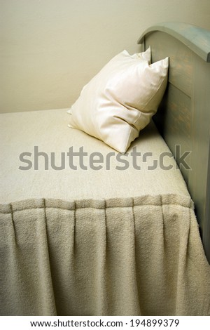 two pillow on hotel bed