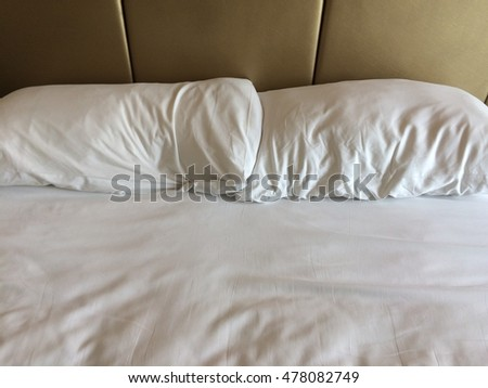 Two pillow on the bed