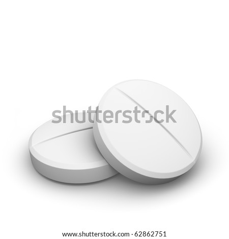 two pills - stock photo