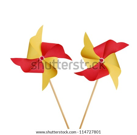 Two pinwheels on white