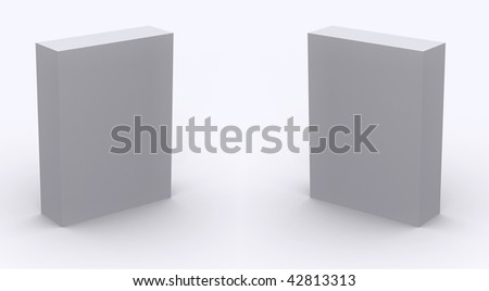 Two Plain empty packaging boxes on light background - stock photo