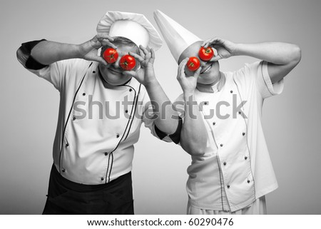 two playing chiefs - stock photo