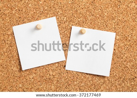 Two Posted Notes - stock photo